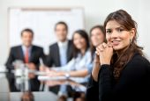 image of business meetings  - Business people in a meeting at the office - JPG
