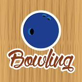foto of oblong  - abstract bowling ball on a special background - JPG