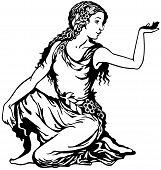 stock photo of virgo  - young woman - JPG
