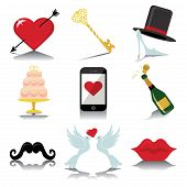 picture of wedding feast  - Vector Design wedding icons for Web and Mobile - JPG