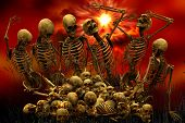 picture of skull bones  - Horror Skeletons - JPG