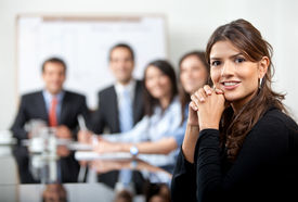 picture of business meetings  - Business people in a meeting at the office - JPG