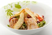 foto of caesar salad  - Caesar Salad with Chicken Fillet - JPG
