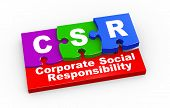 foto of responsible  - 3d rendering of puzzle pieces presentation of csr  - JPG