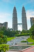 image of petronas towers  - Petronas Twin Towers at Kuala Lumpur city - JPG