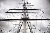 foto of sparring  - Maritime Naval Rigging of an old merchant clipper - JPG