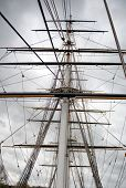 stock photo of sparring  - Maritime Naval Rigging of an old merchant clipper - JPG