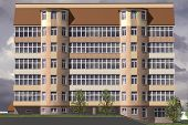 picture of orthogonal  - Multistorey building structure building social housing neighborhood - JPG