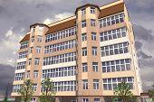 foto of social housing  - Multistorey building structure building social housing neighborhood - JPG