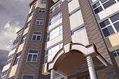 foto of orthogonal  - Multistorey building structure building social housing neighborhood - JPG
