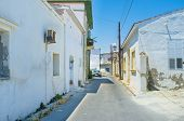 image of larnaca  - The old streets of Larnaca with the tiny white houses and winding ways which often change direction Cyprus - JPG