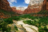Zion canyon poster