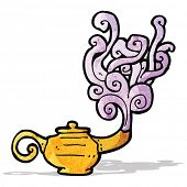 pic of genie  - cartoon genie in lamp - JPG