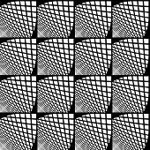 foto of quadrangles  - Design seamless monochrome checked geometric pattern - JPG