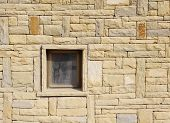 pic of tile cladding  - Stone cladding plates on the wall with window - JPG