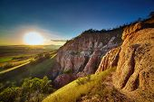 picture of ravines  - Sunset at the Red Ravine in Romania - JPG