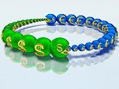 foto of caterpillar  - Voracious caterpillars are chasing each other and for the money - JPG
