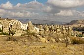 image of goreme  - Mountain landscape panoramic view in the Goreme