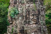 pic of stone sculpture  - Stone murals and sculptures in Angkor wat Cambodia - JPG