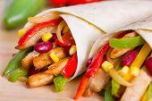 image of sandwich wrap  - Mexican fajitas  - JPG
