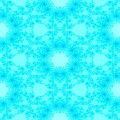 foto of decorative  - Seamless decorative pale turquoise fractal decorative pattern - JPG