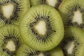 picture of villi  - Sliced ripe and juicy KIWI green color - JPG