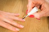 stock photo of manicure  - Manicure in the spa salon - JPG
