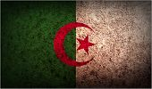 picture of algeria  - Flag of Algeria with old texture - JPG