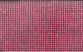 picture of grout  - Texture of red square tiles on wall - JPG