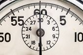 stock photo of stopwatch  - Details of an old retro style Russian stopwatch - JPG