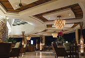 picture of night-club  - night scene of hotel lobby bar - JPG