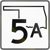 image of state shapes  - US state highway shield Oklahoma - JPG