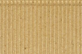 stock photo of taupe  - Corrugated cardboard goffer paper texture - JPG