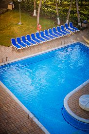 pic of all-inclusive  - Typical Empty Pool on a All Inclusive Resort  - JPG