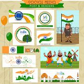 image of indian independence day  - Beautiful social media post - JPG