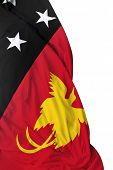 pic of papua new guinea  - Papua New Guinea waving flag on white background - JPG