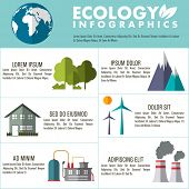 picture of ecology  - Set of various ecological infographic elements for save ecology concept - JPG