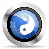 picture of ying yang  - ying yang icon  original modern design for web and mobile app on white background  - JPG