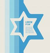 image of israel israeli jew jewish  - poster of jewish sign of david star with place for text - JPG
