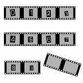 picture of grayscale  - grayscale film and movie with numbers symbols eps10 - JPG