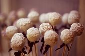image of cake pop  - Capture of Delicious looking small cake pops - JPG