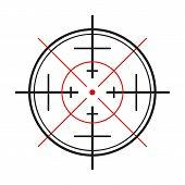 picture of crosshair  - crosshair of the gun on white background - JPG