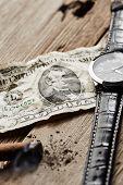 stock photo of cigar  - Dollar - JPG