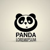 foto of pandas  - vector panda icon - JPG