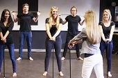picture of drama  - Students Taking Dance Class At Drama College - JPG