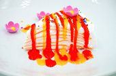 stock photo of crepes  - Crepe cake sweet and dessert  - JPG