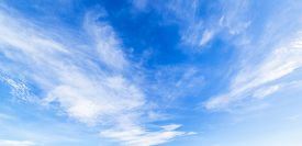 picture of blue  - Panorama shot Cloud with blue sky - JPG