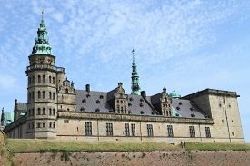 image of hamlet  - Kronborg Castle, unesco world heritage and immortalised as Elsinore in Shakespeare