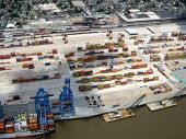 picture of katrina  - Aerial view of Port of New Orleans post Katrina - JPG