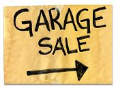 Real Garage Sale Sign